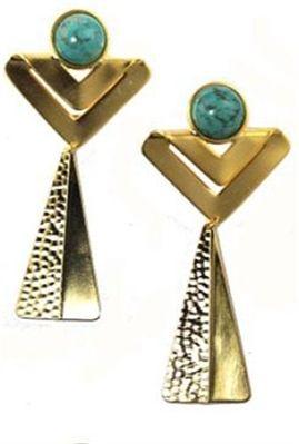 Nissa Jewelry Stoned Cheyenne Earrings