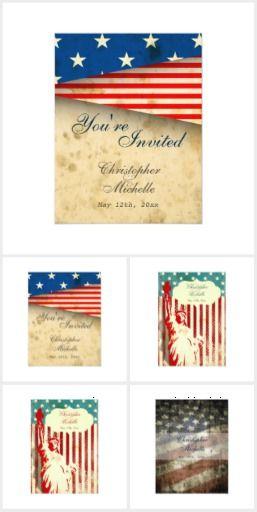 patriotic american flag wedding invitations weddings in 2018