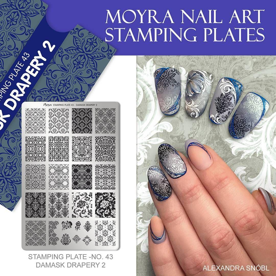 NEW MOYRA NAIL ART STAMPING PLATE NO. 43 DAMASK DRAPERY 2. #moyra ...