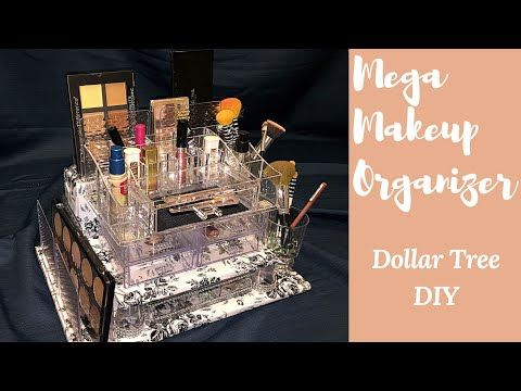 1c6fb03313d6 DIY  The Ultimate Bling Makeup Organizer!!! ( 1 Dollar Tree Products) -  YouTube