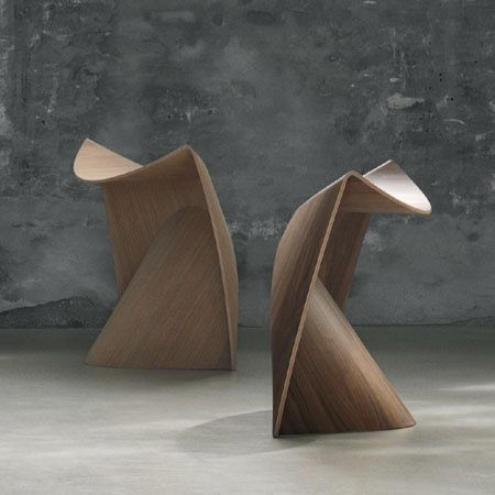 Sit stool in laminated wood from Illums Bolighus Collection :: Andreas Lund Designs