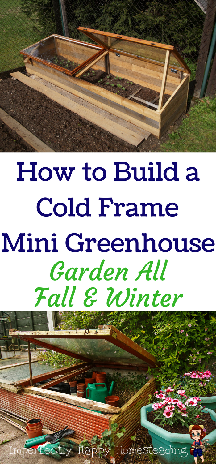 how to build a cold frame mini greenhouse garden all fall