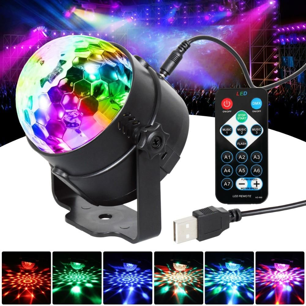 T Sun Led Party Lights Rgb 3w Crystal Magic Ball Led Stage Lamp Laser Stage Effect Light With Remote Contr Laser Party Lights Led Party Lights Led Stage Lights