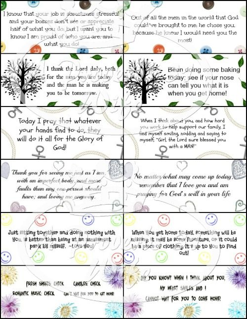 photo about Free Printable Lunchbox Notes for Husband identify Aiding Notes for Hubbys Lunch (Totally free Printables
