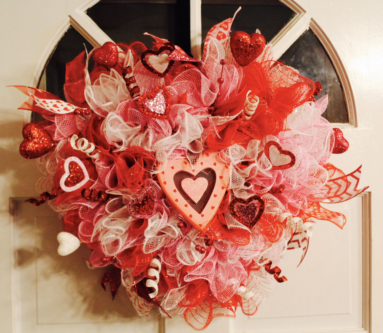 Valentines day wreath heart wreath valentines day heart valentines day wreath heart wreath valentines day heart shaped wreath home decor love deco mesh love wreath front door wreath rubansaba
