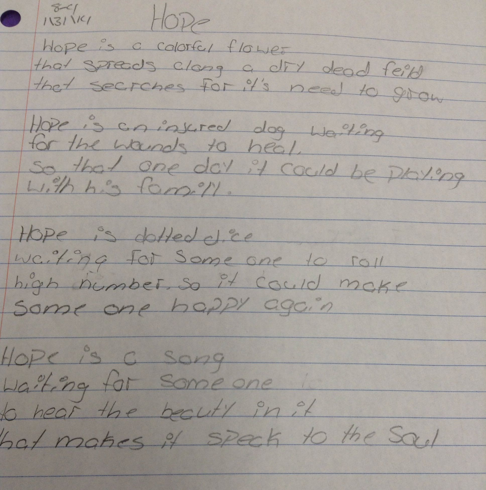 Extended Metaphor Poem Written By 8th Grader Metaphor Poems 6th Grade Reading Middle School Writing