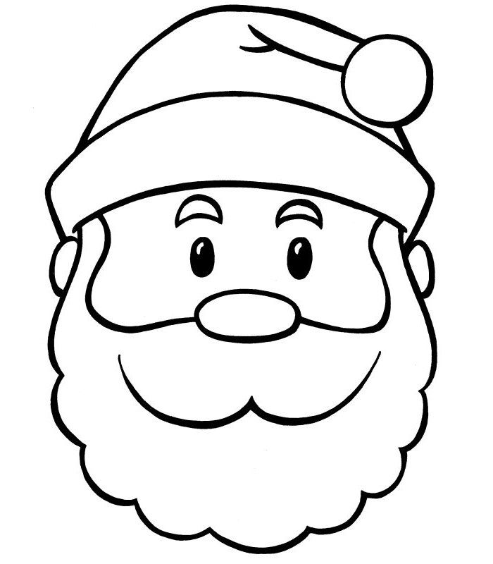 61 Best Santa Templates Shapes Crafts Colouring Pages Santa