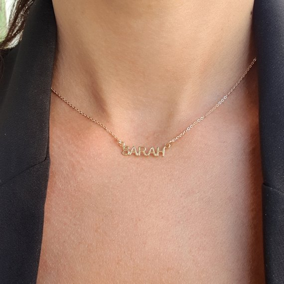 Best gift personalized small name necklace