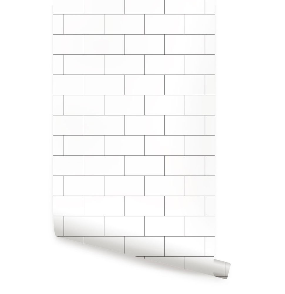 Large Subway Tile Peel And Stick Wallpaper Sheet Large 24 Inches Wide X 48 Inches Long By Simple Shapes Walmart Com In 2021 Peel And Stick Wallpaper Tile Wallpaper Self Adhesive Wallpaper