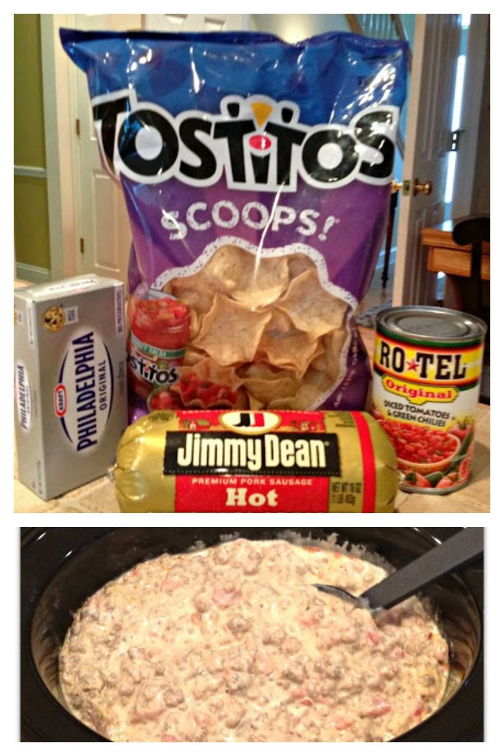 Easy Sausage Dip (Only 3 Ingredients) #easypotluckrecipes
