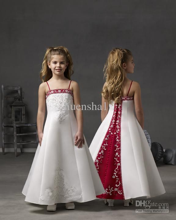 Wholesale - Lovely Cheap Flower Girl Dress Wedding Pageant White ...