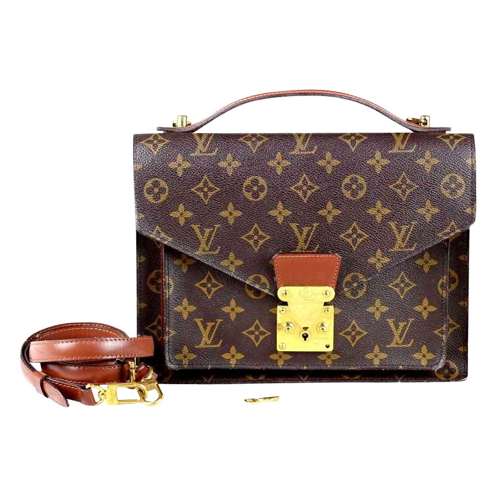 AUTHENTIC Vintage Louis Vuitton Monceau Monogram Handbag-Purse w Strap a3385e2ba1