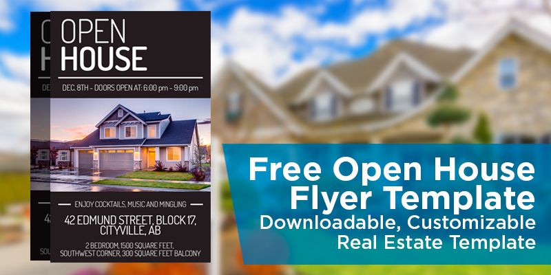 Free Open House Flyer Template u2013 Click to View \ Download - flyer format word