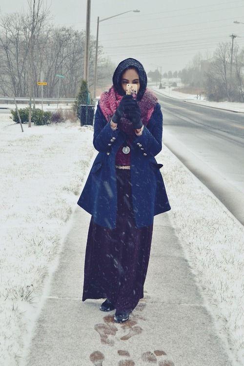 Winter Hijab Fashion Muslimah Street Fashion ☪ Fashion
