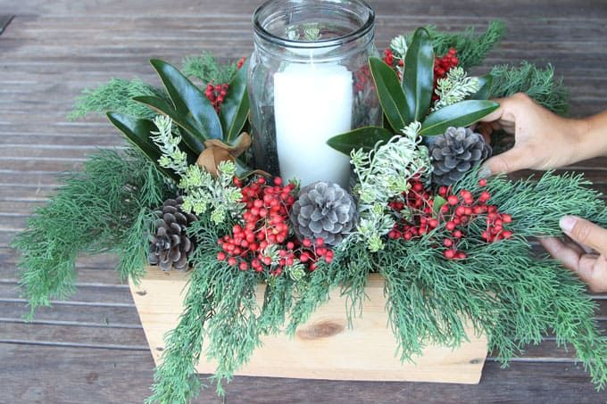 DIY Christmas Table Decorations Easy Centerpiece in 10 minutes - christmas table decorations