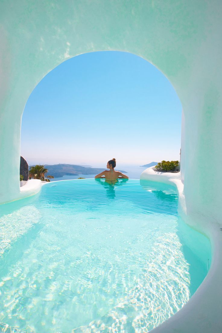 Whitewashed Interiors and Envy-Inducing Pools at Dana Villas in Santorini #traveldestinations