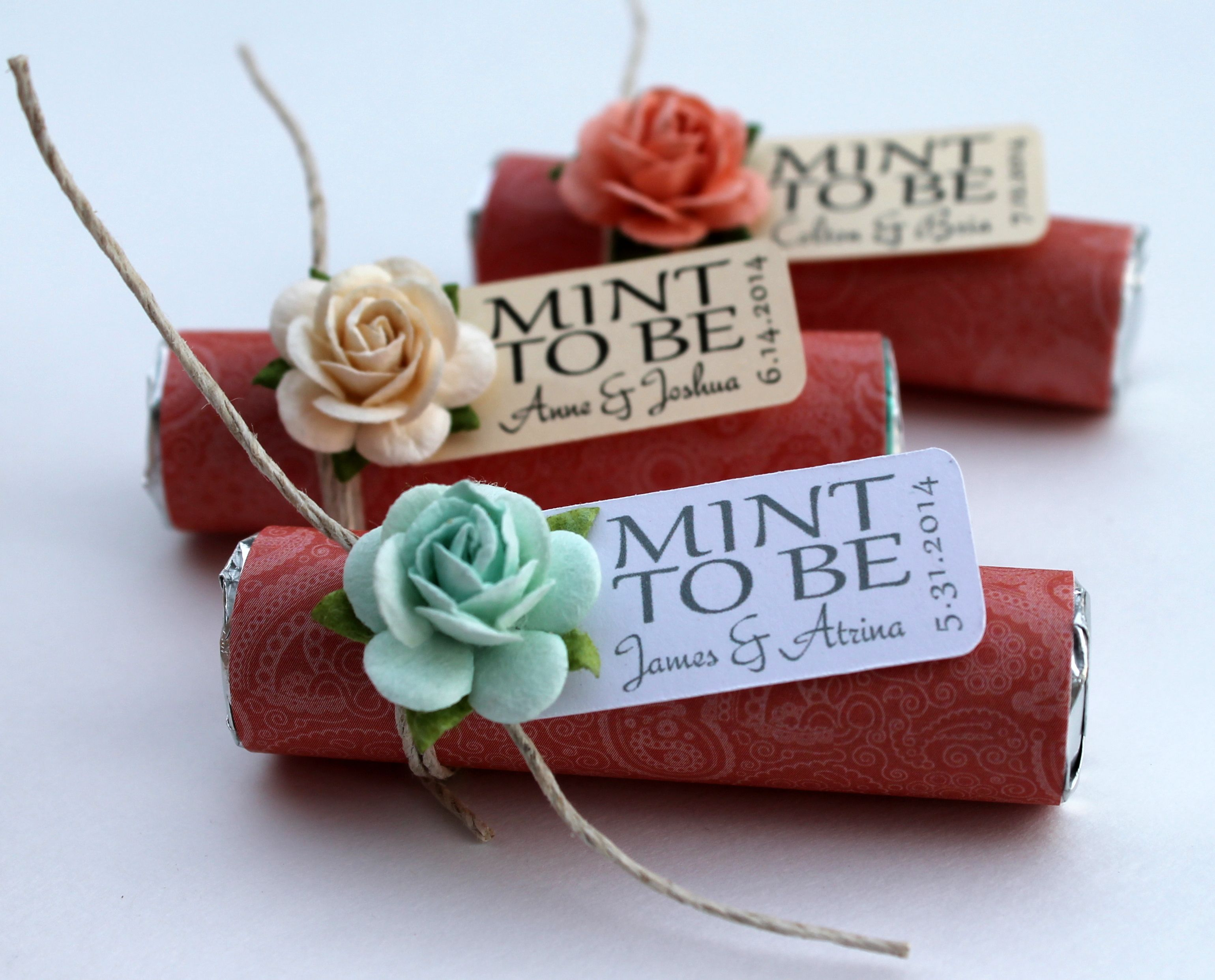 Wedding Personalized Favors personalized mint to be wedding favors coral favors