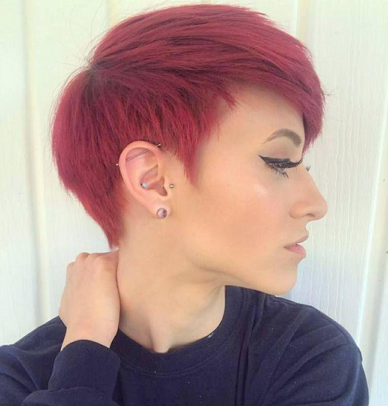 Kurze Rote Frisuren Jahr 2019 2020 Frisur Trend Kurzehaare