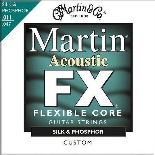 Martin FX130 Silk & Phosphor Acoustic Guitar Stings, Custom Light by Martin. $5.99. Martin FX guitar strings utilize an advanced thin wire core to increase flexibility and improve sustain without sacrificing tone, durability, or playability.. Save 58% Off!