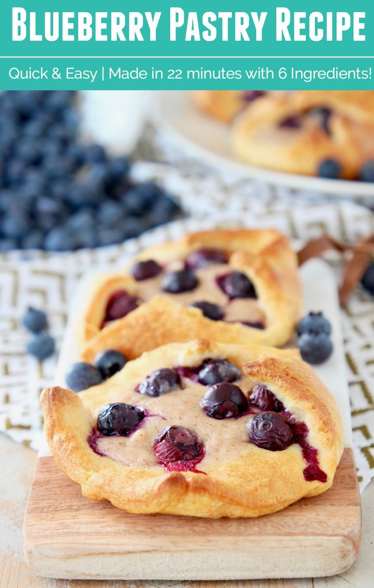 This Blueberry Pastry recipe is guaranteed to make your