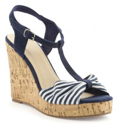 Zapatos azules LH by La Halle para mujer 3xFuIolb8