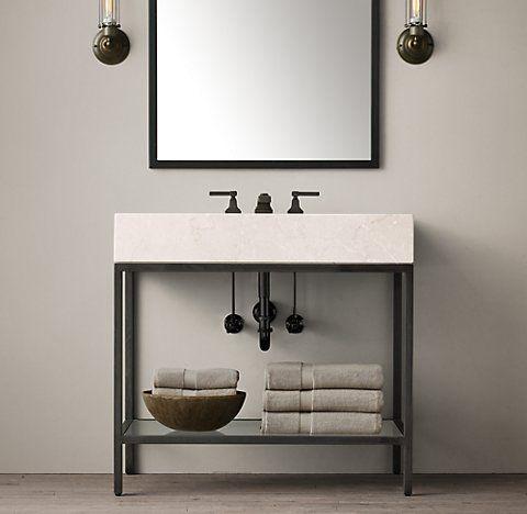 Hudson Bath Collection Aged Steel RH Meetinghouse Project - Rh bathroom