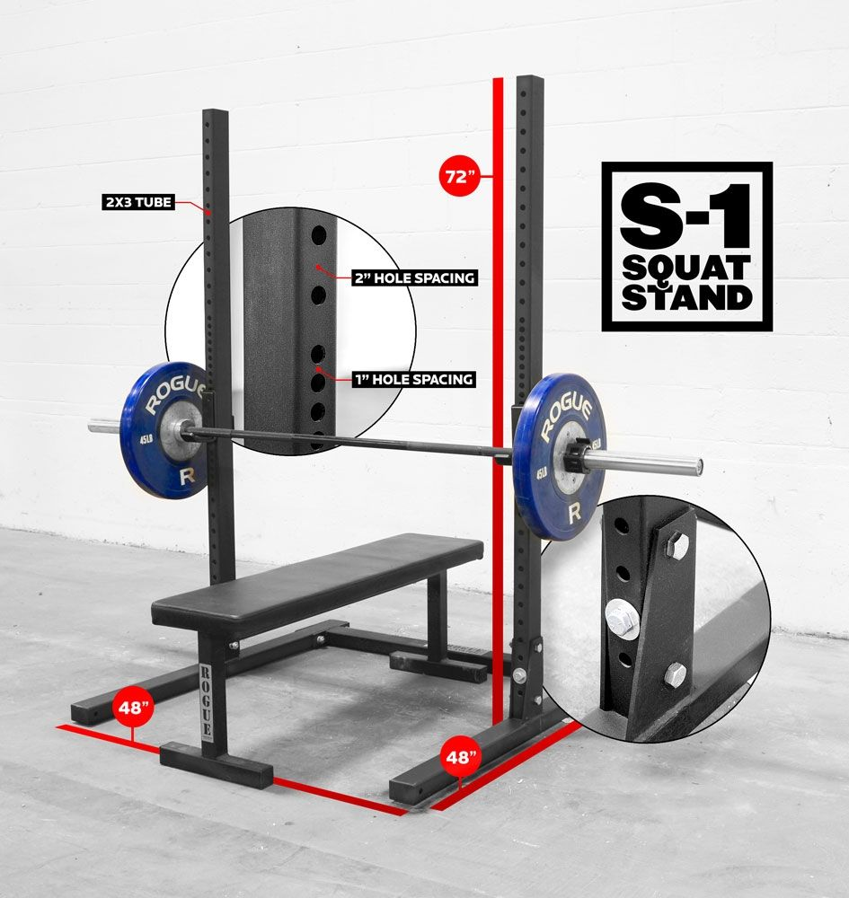 Rogue s squat stand weight training quot rack