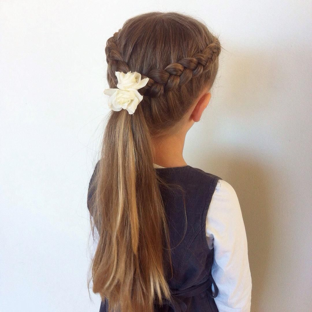 Two Simple Dutch Braids Into A Ponytail Braided Hairstyles Braids For Short Hair Half Braided Hairstyles