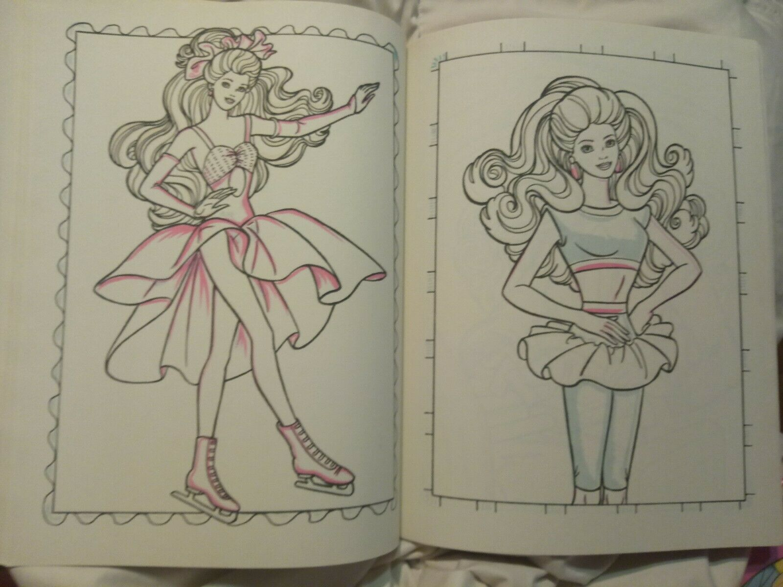 Vintage 1990 Barbie Giant Paint With Water Coloring Book By Golden New Unused 12 Barbie Coloring Pages Barbie Coloring Coloring Book Set