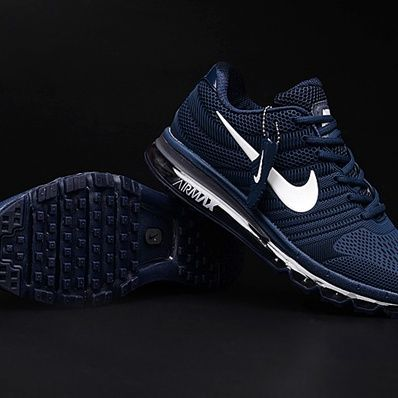 low priced 21fb8 9f141 Sale Nike Air Max 2017 Dark Blue White Logo Men Shoes Factory Office -   65.00