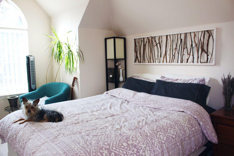DIY Branch Art Headboard Above bed decor, Diy wall decor