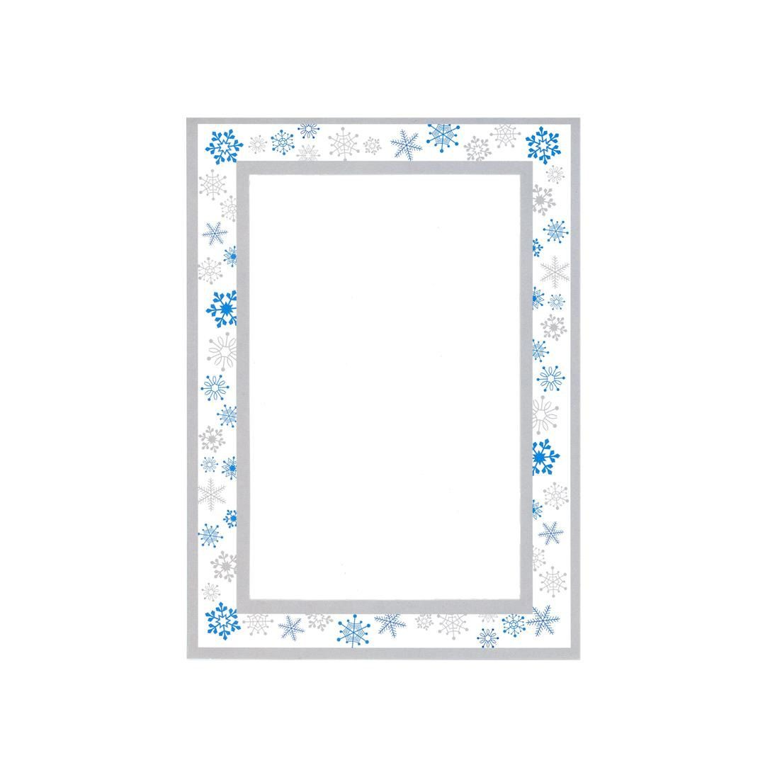 Snowflakes cards blank holiday - 10 Photo Insert Note Cards ...