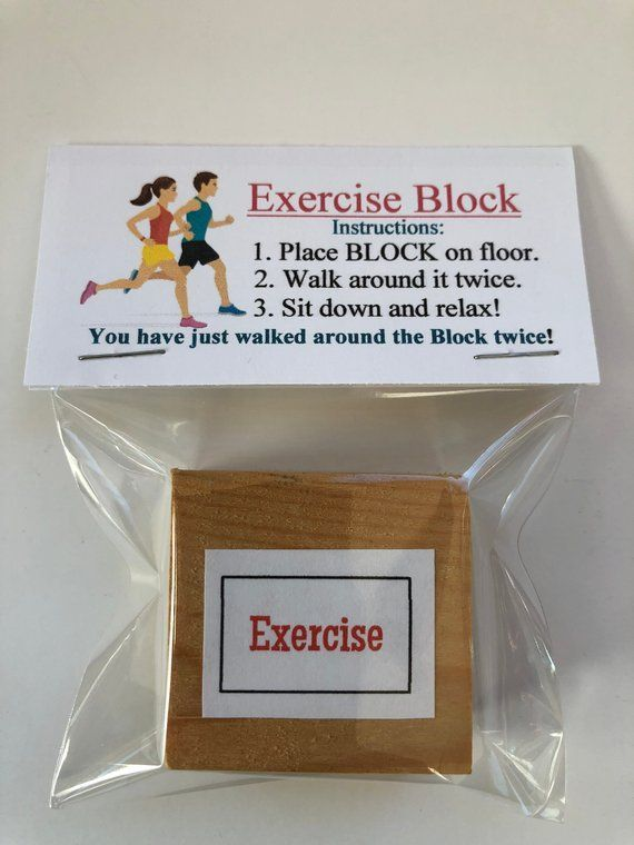 #funny gift with pictures EXERCISE BLOCK  – Gag Gift Bags Funny, silly prank goo…