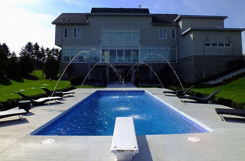 Eminence pools radiance 40 diving pool model