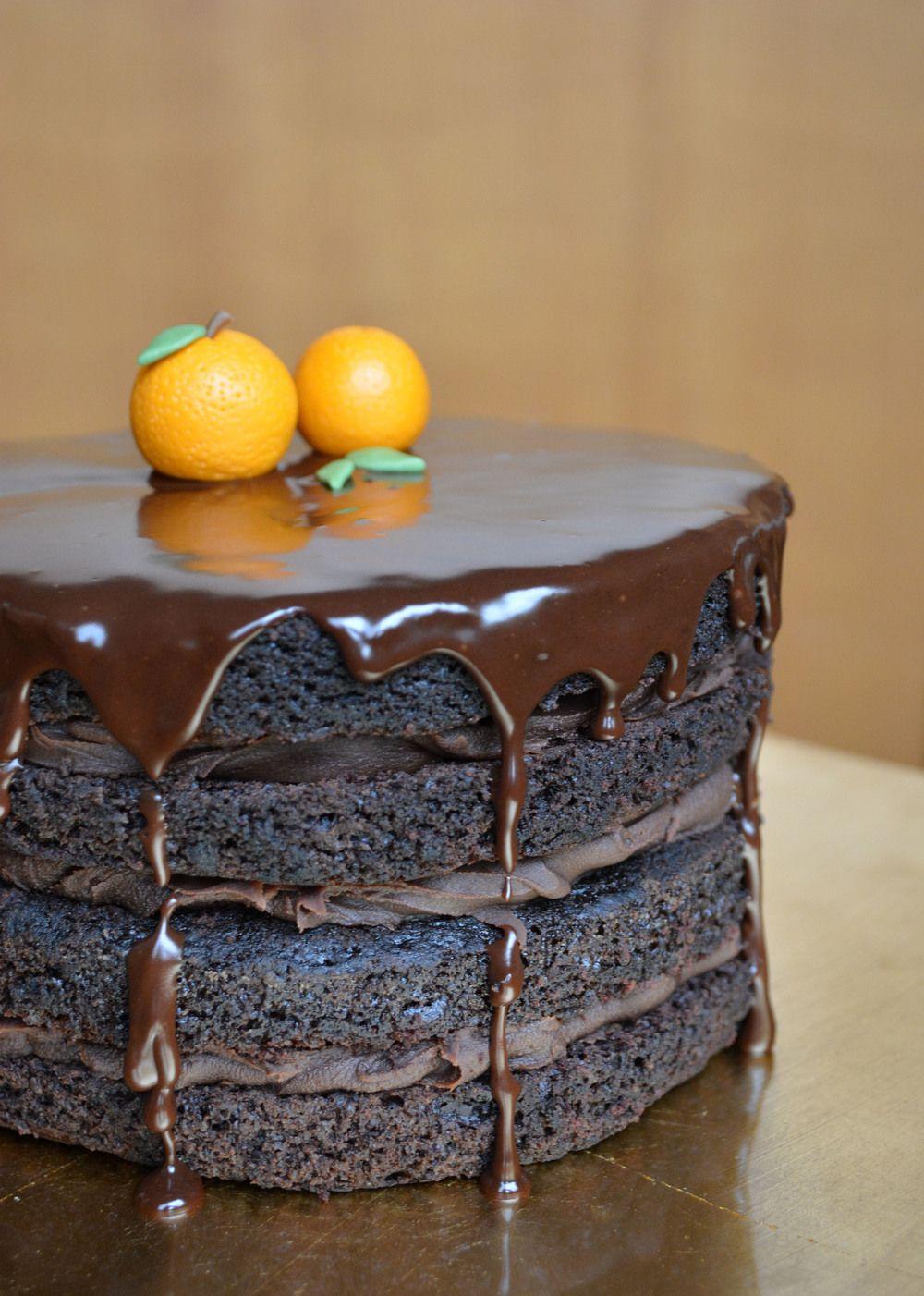 Recipe: Orange Chocolate Cake with Cointreau Ganache