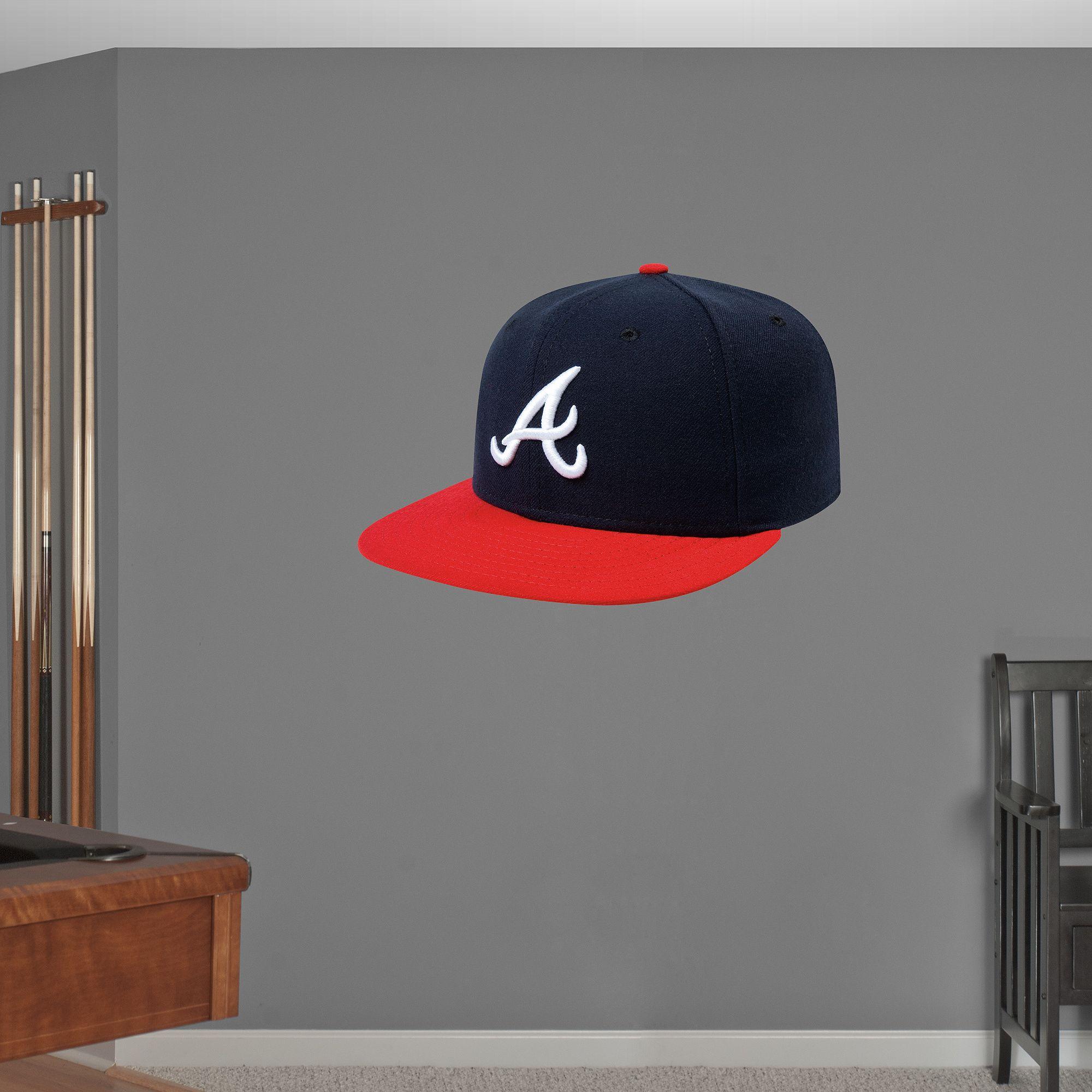 Atlanta Braves Cap Realbig Fathead Wall Graphic
