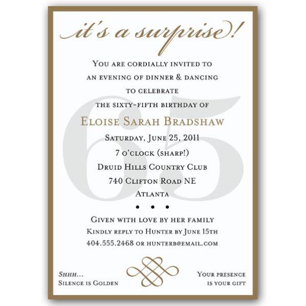 65th birthday invitations bing images