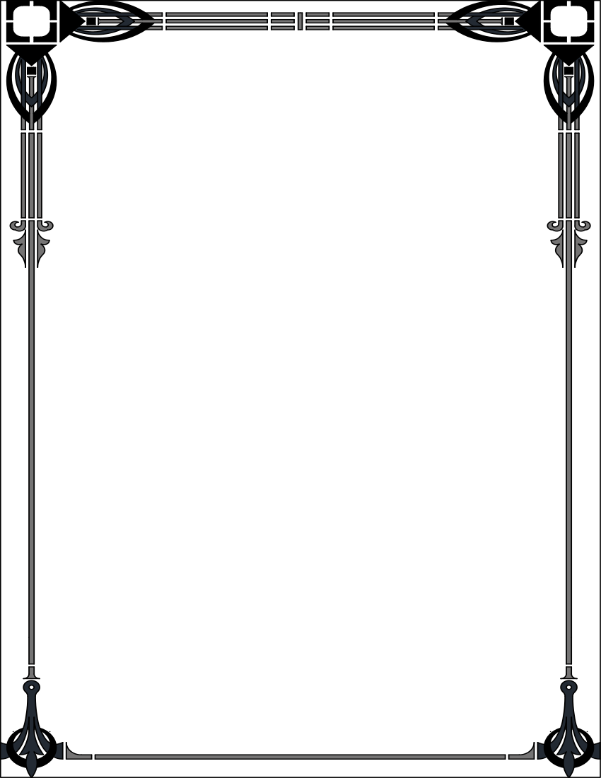 Free download Art Deco Border Clipart for your creation
