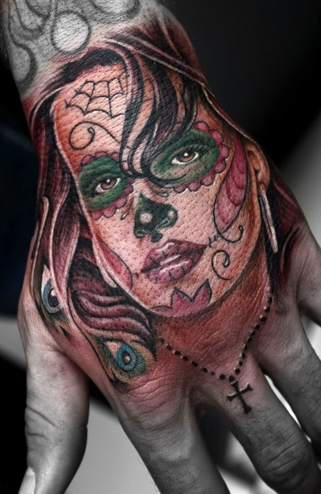 Some Quality Meat Tattoo By An Unknown Artist Tattoos Sugar Skull Girl Day Of Dead Tattoo
