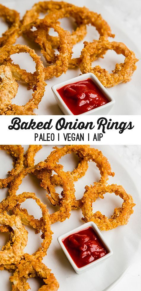 Baked Onion Rings Paleo Vegan Aip