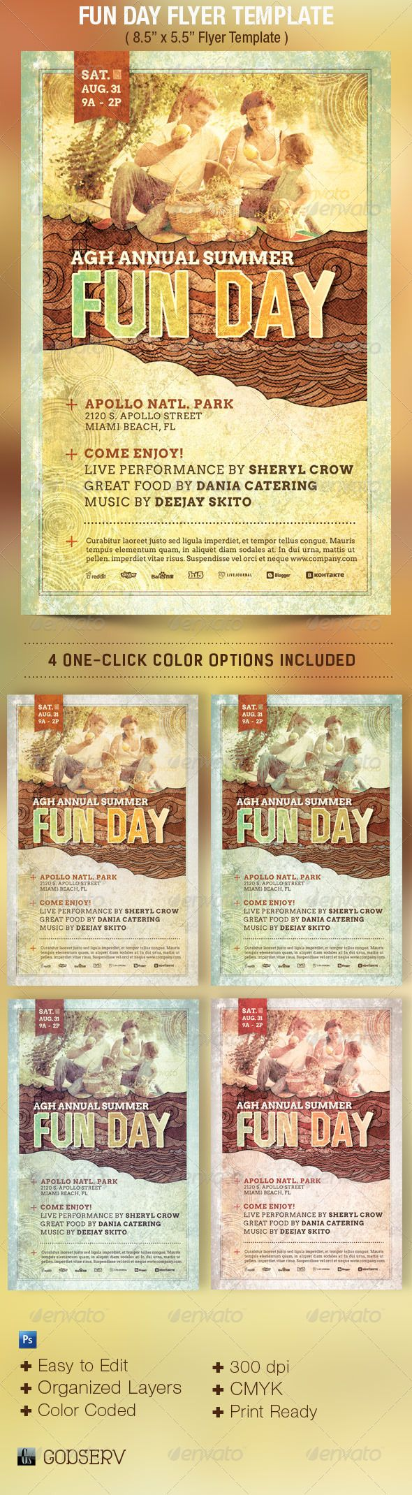 Fun Day Event Flyer Template  Event Flyer Templates Event Flyers