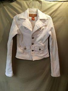 Designer Denim Jacket Christopher Blue Natural White Size s Women's Junior Coat | eBay