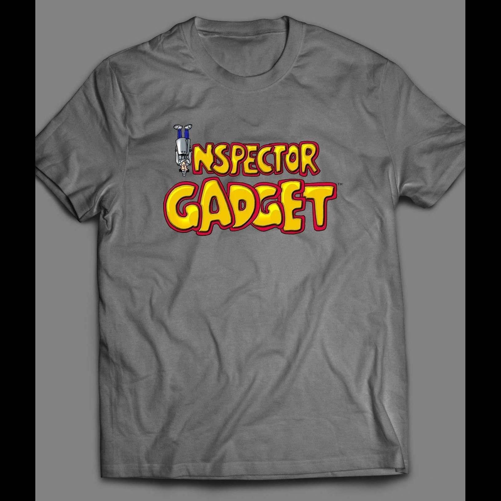 INSPECTOR GADGET UPSIDE DOWN VINTAGE SHIRT - LARGE / GRAY / Gildan G200 (Included)