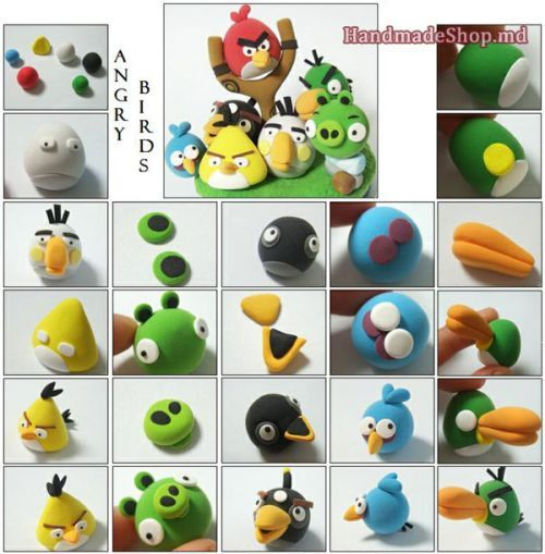 Angry Birds polymer clay FIMO tutorial