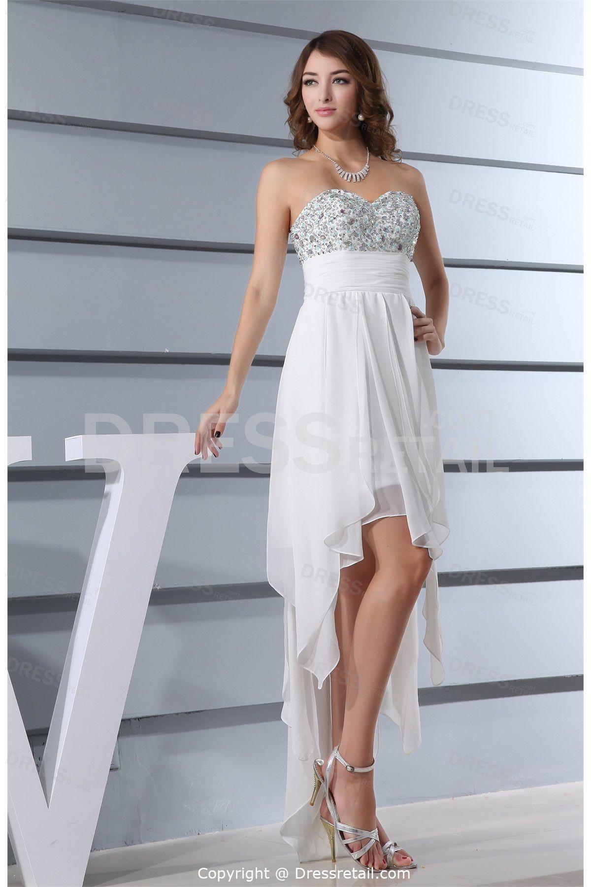 Asymmetrical Chiffon Beading Sweet 16 Dress | Sweet 16 | Pinterest ...