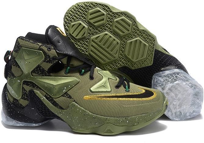 new concept 82bdd 43c09 Nike Lebron 13 All Star Shoes Navy Green White Gold Black