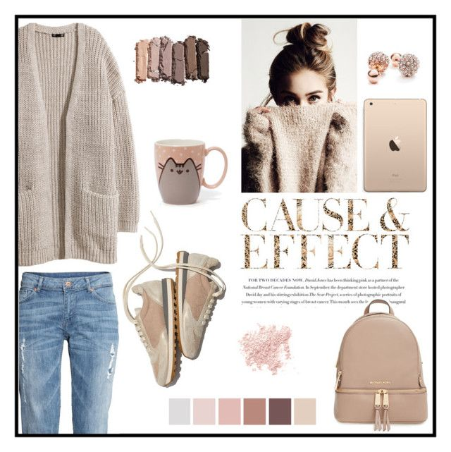 """""""Untitled #244"""" by non-mi-piace ❤ liked on Polyvore featuring Brunello Cucinelli, H&M, Urban Decay, Envi, GUESS, Bare Escentuals, MICHAEL Michael Kors, women's clothing, women and female"""