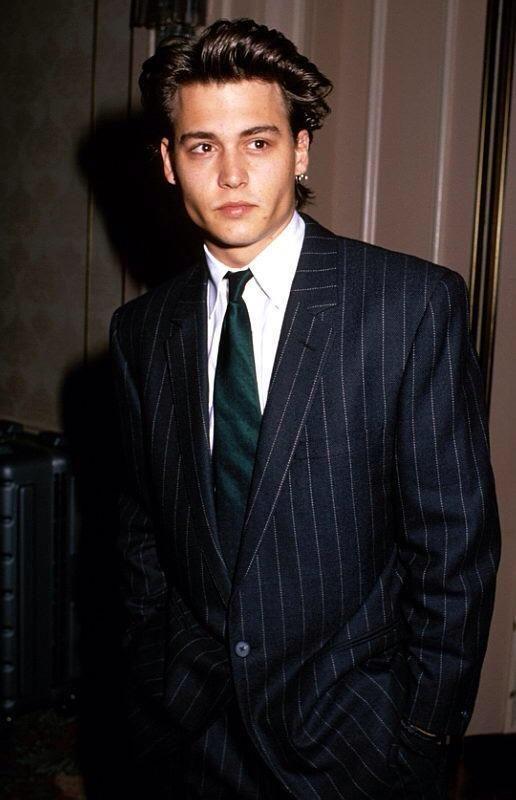 Johnny Depp looking fancy in 1988