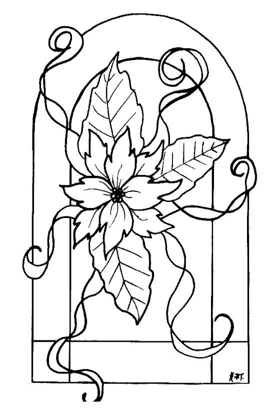 Window Color Vorlagen Blumen  Christmas coloring  Pinterest