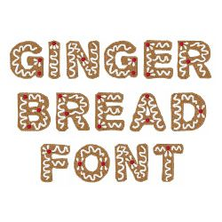 Gingerbread Font embroidery font